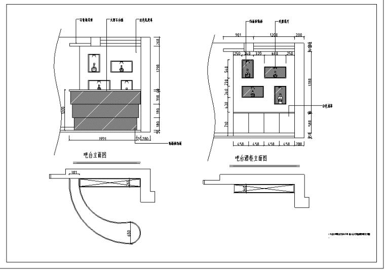山东某二层高档别墅装修设计施工图(37张)