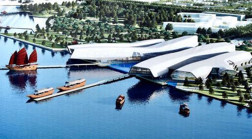 龙图杯获奖作品—天津海洋博物馆BIM模型