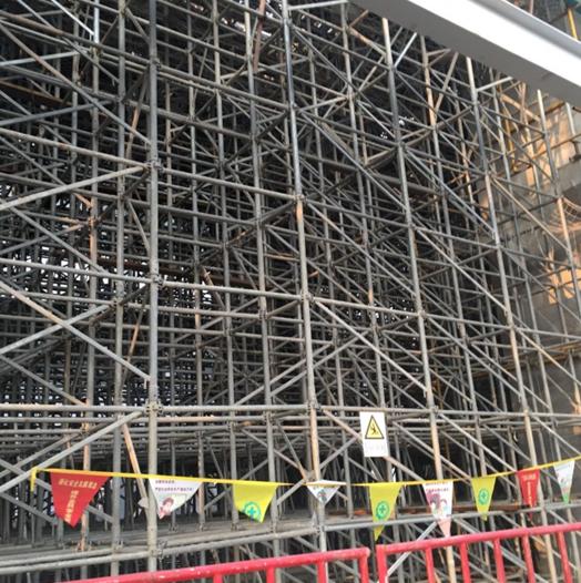 超厚楼板定型三脚架锁销式模架施工工法