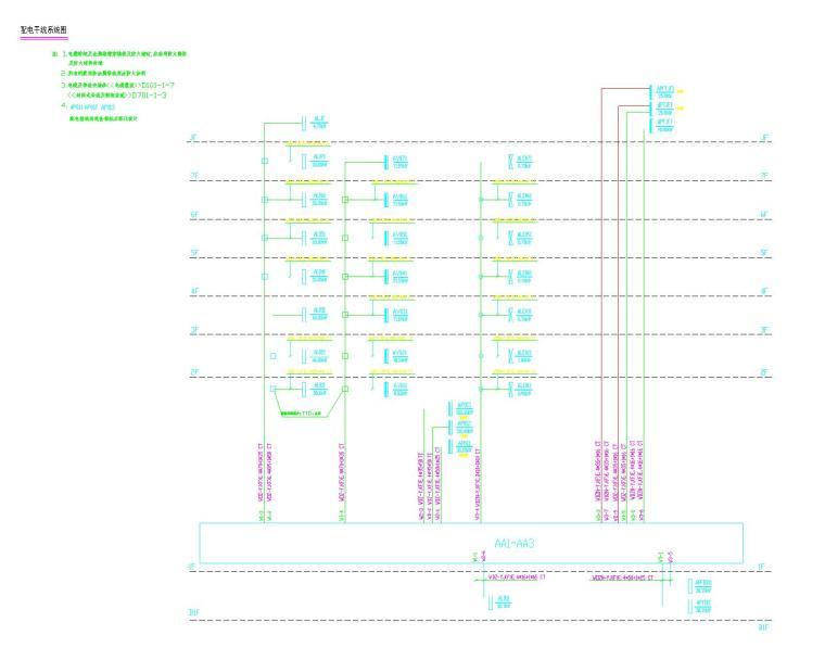 [美国]高层医院建筑工程电气施工图纸(医疗楼综合楼)