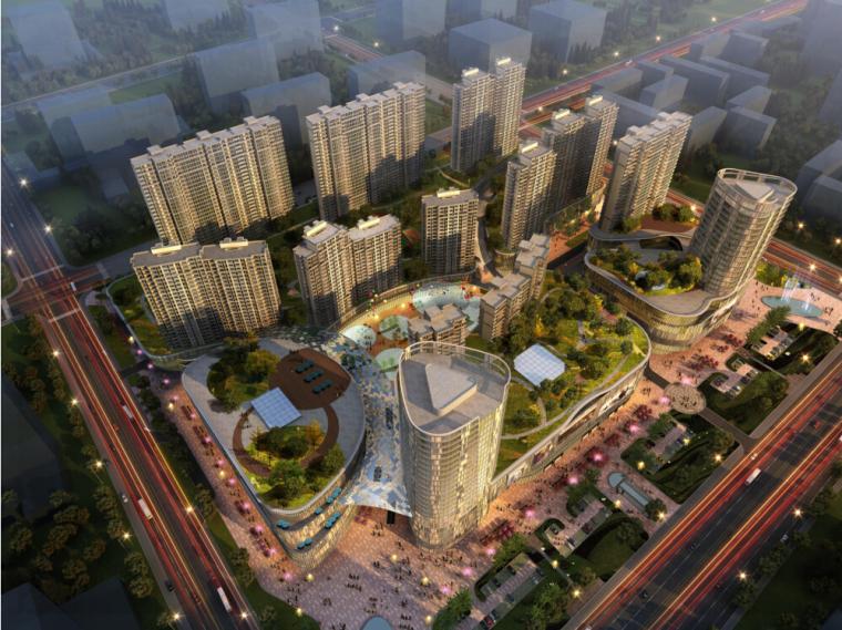 [江苏]大型城市综合体建筑设计方案文本(含住宅,商业、办公)