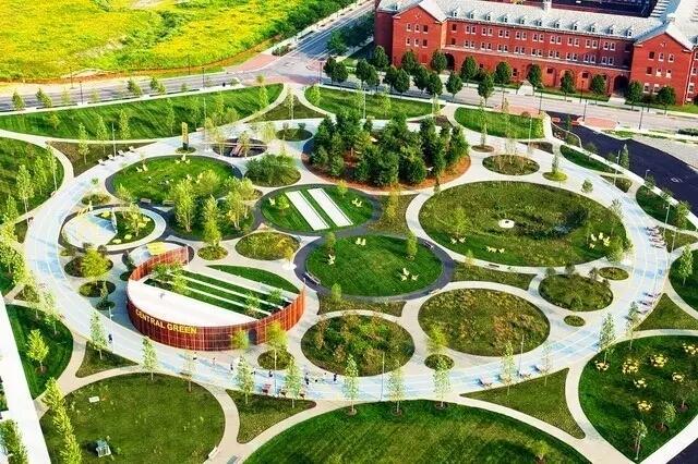 景观设计里的圈圈圆圆圈圈。