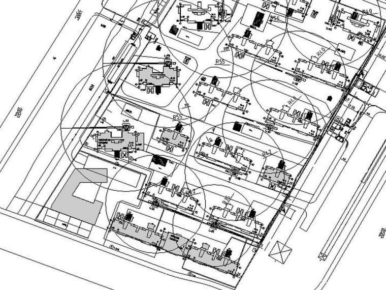 [浙江]框剪结构高层住宅高大支模架方案论证后CAD图纸