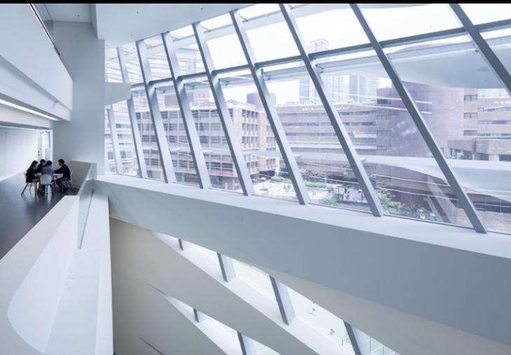 香港理工大学创新楼室内设计实景图