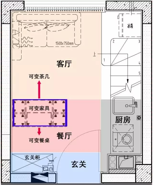 [干货]28㎡小户型3房3卫,设计师开挂了?_4