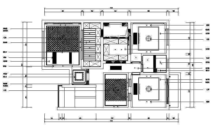 【江苏】中式风格别墅设计施工图(效果图+pdf图纸)_3