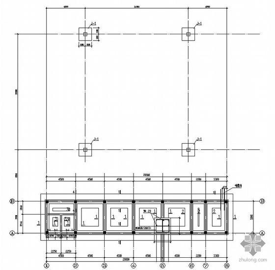 某混凝土2层框架结构加油站施工图