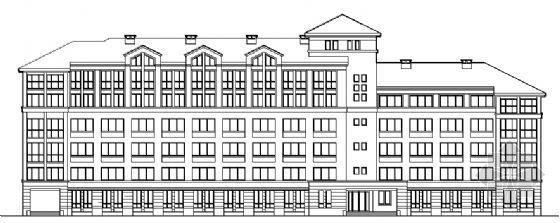 某六层学生宿舍楼建筑方案图