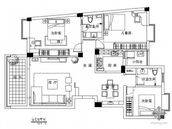 三室两厅设计方案