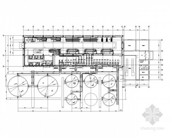 [北京]某热电厂锅炉补给水设备设计图纸(轴测图、安装图)