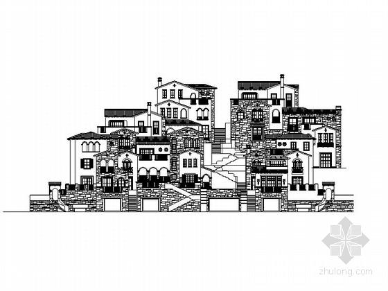 [浙江]多层西班牙风格别墅建筑施工图(含效果图)