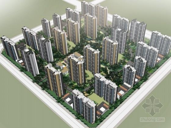 [安徽]现代风格住宅区规划及单体设计方案文本(含CAD)
