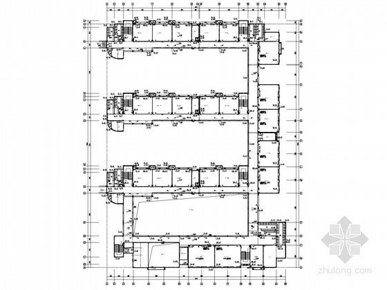 [湖南]小学建筑群风雨操场给排水消防施工图