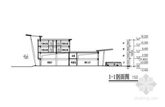 客运汽车总站剖面图