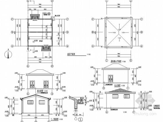 砖混结构配电房建筑结构施工图