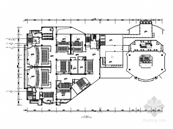 imax电影院施工图资料下载-[上海]动感时尚现代电影院室内施工图