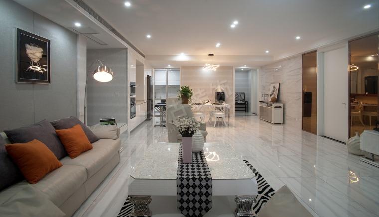珊瑚水岸现代风格设计实景完工效果图时尚大气的家-图片5.jpg
