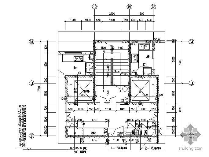 [合肥市]某十八层住宅-楼梯及楼梯间节点详图