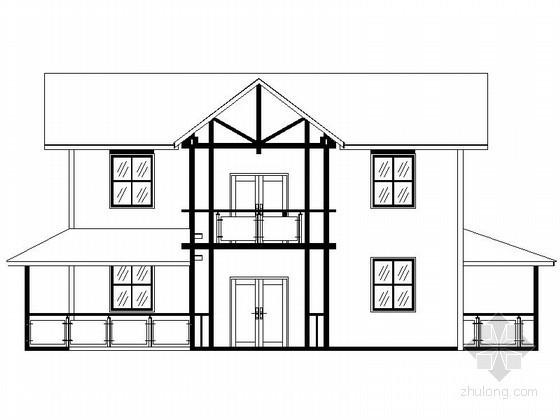 某两层木结构别墅建筑施工图