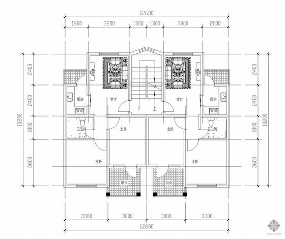 板式多层一梯两户户型图(62/62)