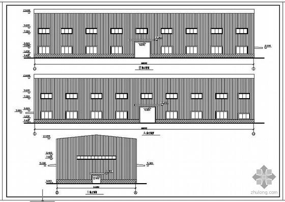 某带32吨和20吨吊车厂房建筑结构图