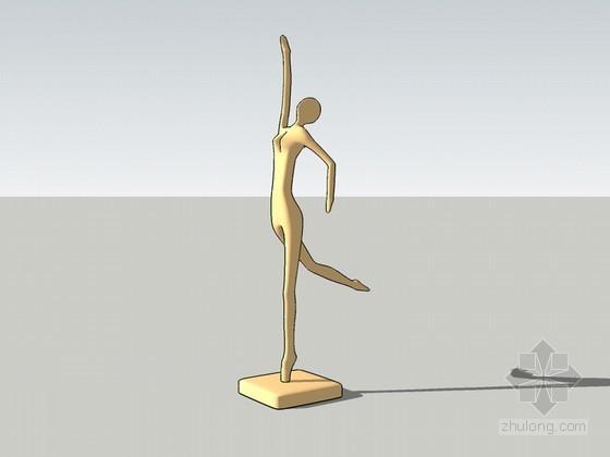 人形雕塑SketchUp模型下载
