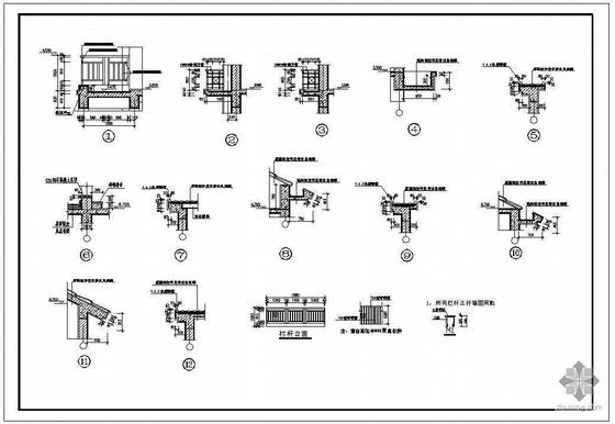 某二层带阁楼双拼别墅建筑施工图-3