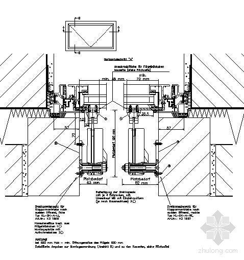 电动开窗详细节点-顶悬外翻窗,双马达墙壁安装-折臂式EA-KL Foliding arm