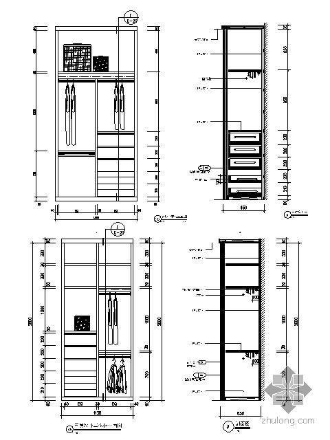 小衣柜结构大样