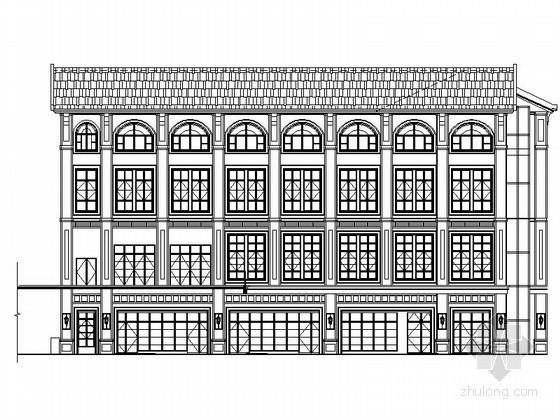 [重庆]某商业广场三层欧式商业用房建筑施工图(2号楼)