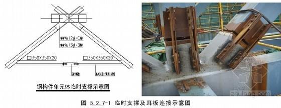 重型铸钢节点钢结构高空散装施工工法