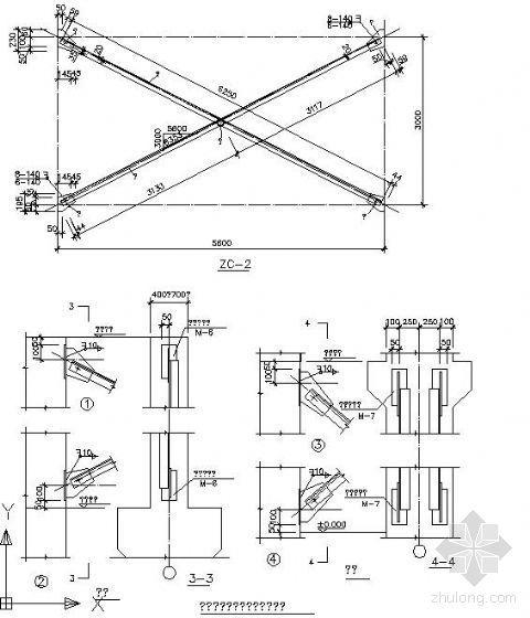 钢结构节点精选之支撑与梁柱连接详图