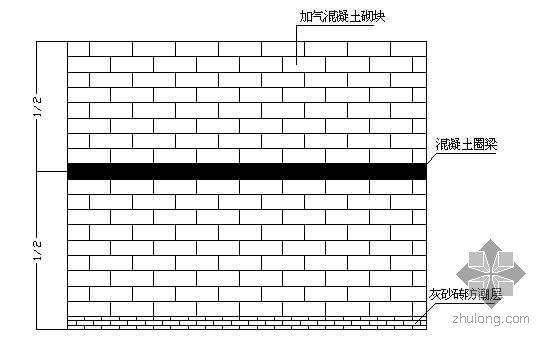 广州某体育馆蒸压加气混凝土砌块施工技术交底