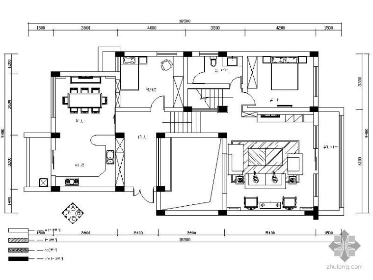 [成都]某花园别墅施工图(含实景)