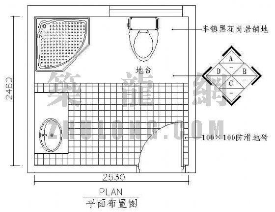 卫生间平面图2