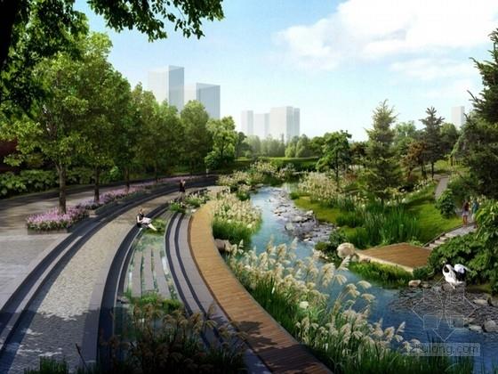 """[哈尔滨]""""动态""""城市滨水景观绿化设计方案"""