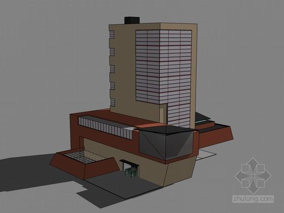 办公建筑SketchUp模型下载-办公建筑