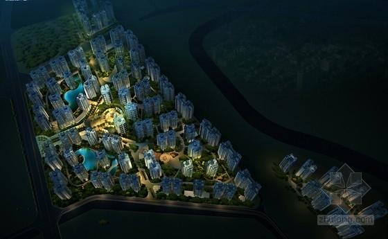 现代风格高层安置区规划方案效果图