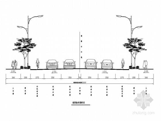 [四川]城市次干路道路工程施工图设计46张