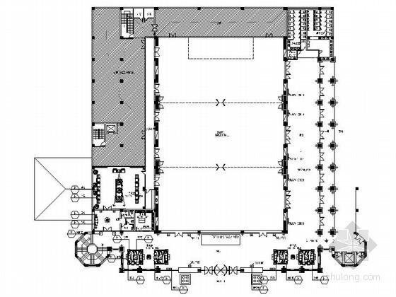 超豪华酒店宴会厅平面布置图