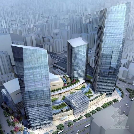 [广东]玻璃幕墙办公区规划及单体设计方案文本