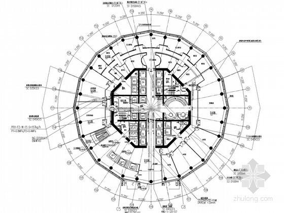 [郑州]超高层商业综合大楼暖通动力全套施工图(280米,24万平)