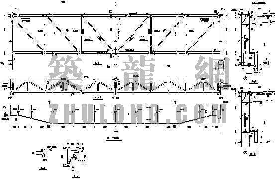 有行车钢结构厂房结构图