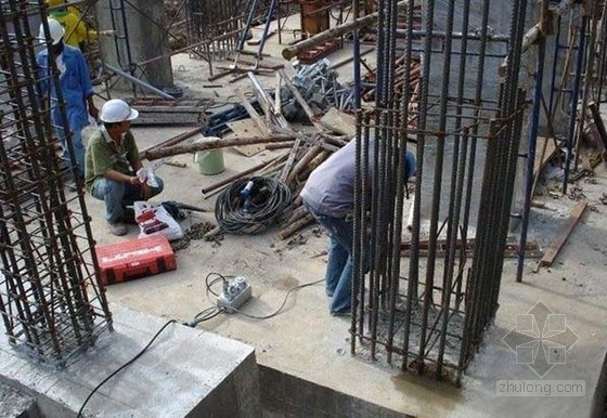 建筑工程植筋施工工艺(现场施工图)