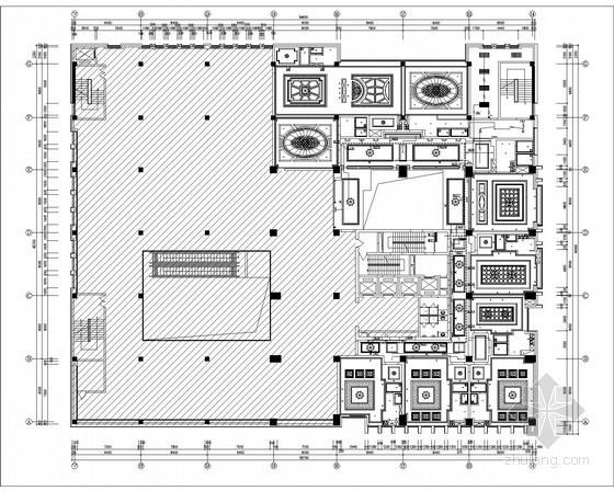 四层插座配电平面图