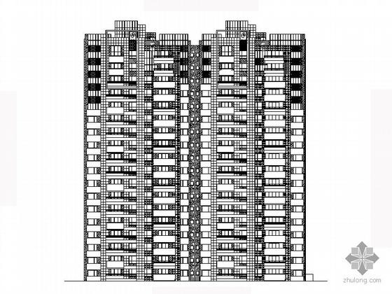 [江苏]某十八层一梯二板式高档住宅建筑方案图