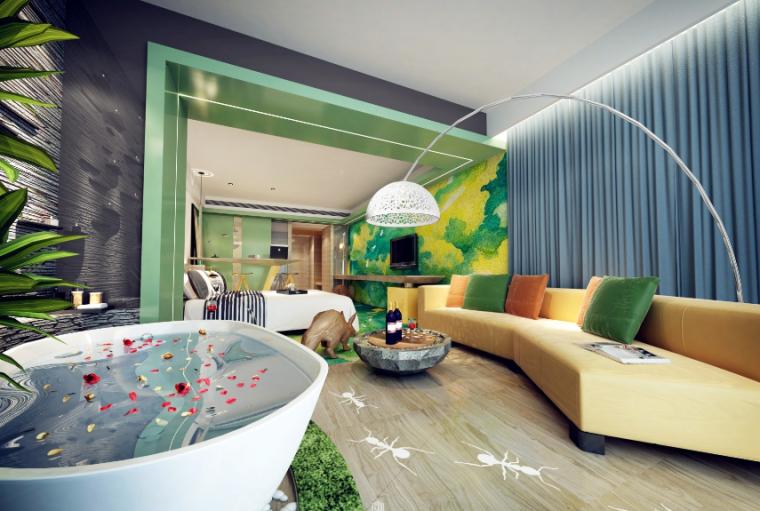 15套君然温泉酒店客房设计大赛优秀作品