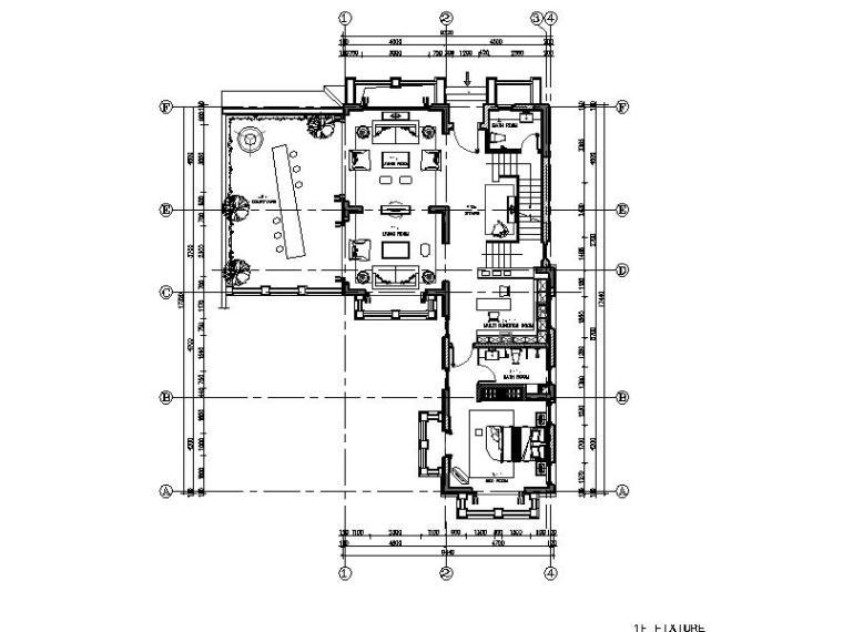 [海口]南加州风别墅精装样板间设计施工图(含效果图、软装方案)