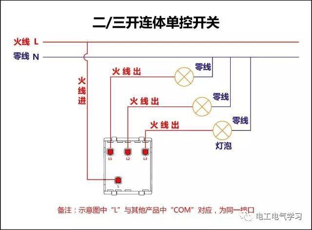 【电工必备】开关照明电机断路器接线图大全非常值得收藏!_2