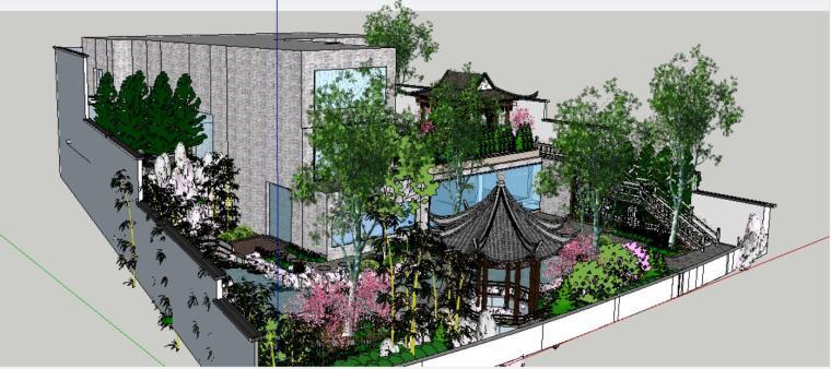 座凳•座椅,景墙•围墙,水景庭院设计su模型_2